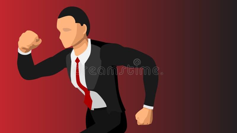Vektorbild einer gut gekleidet männlichen laufenden Nahaufnahme Unbelegter Hintergrund Datei EPS10 vektor abbildung