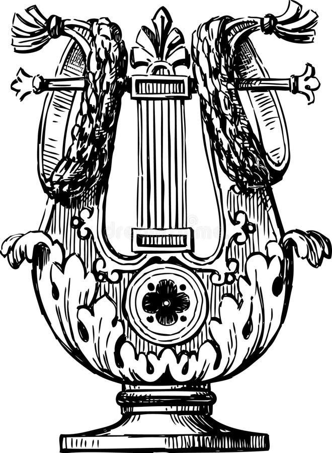 Dekorativer Lyre lizenzfreie abbildung