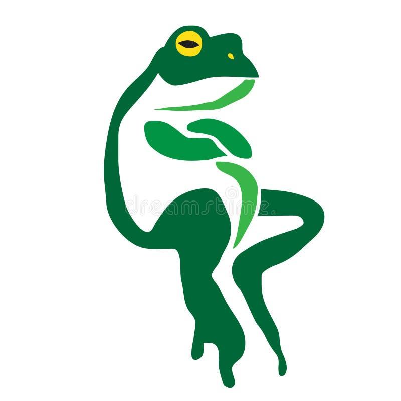Vektorbild eines Frosches stock abbildung