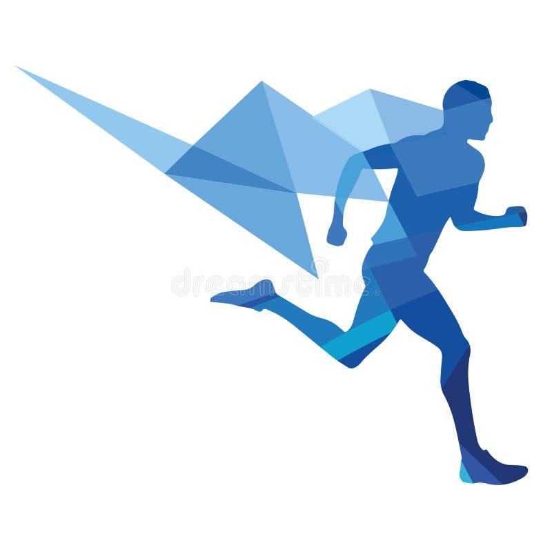 Vektorbild eines Läufers stockfotografie