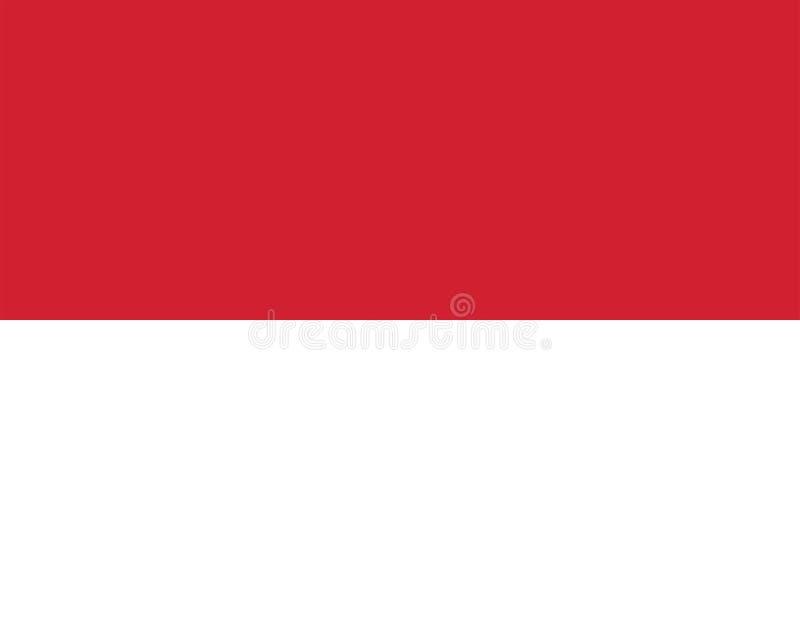 Vektorbild för den Monaco flaggan Baserat på representanten och de exakta Monaco flaggamåtten & färgerna stock illustrationer