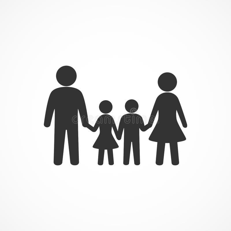 Vektorbild-Familienikone stock abbildung