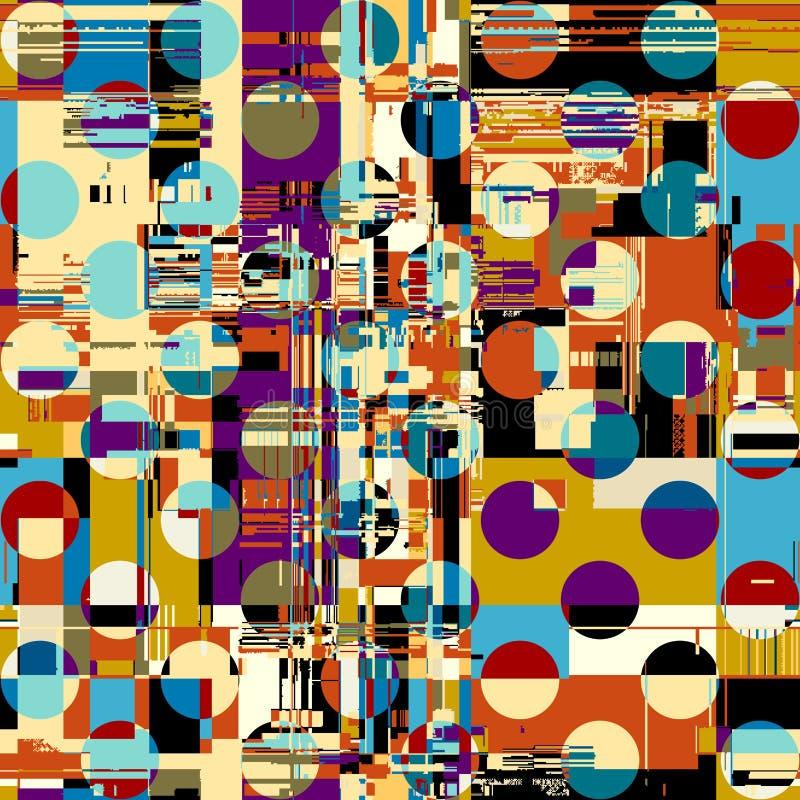 Vektorbild med efterföljd av datamoshing textur för grunge vektor illustrationer