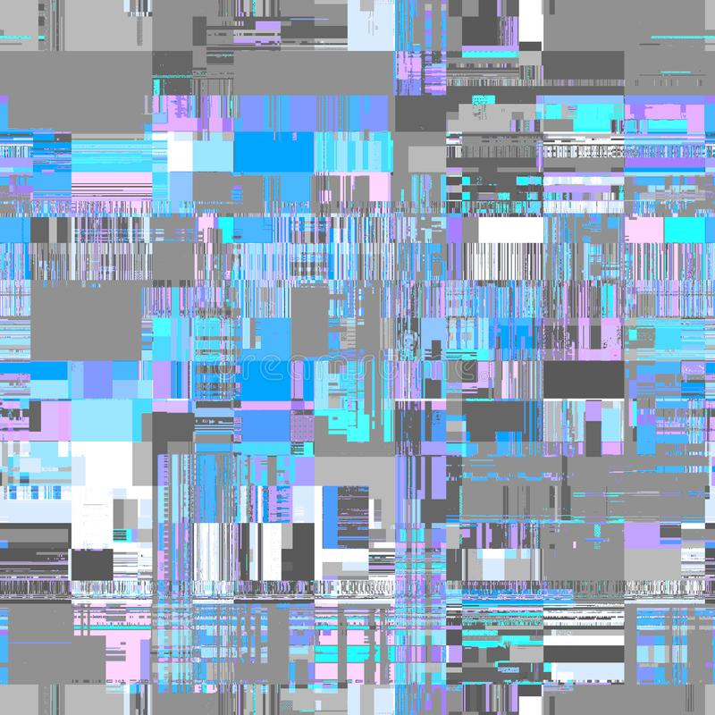 Vektorbild mit Nachahmung der datamoshing Beschaffenheit des Schmutzes vektor abbildung