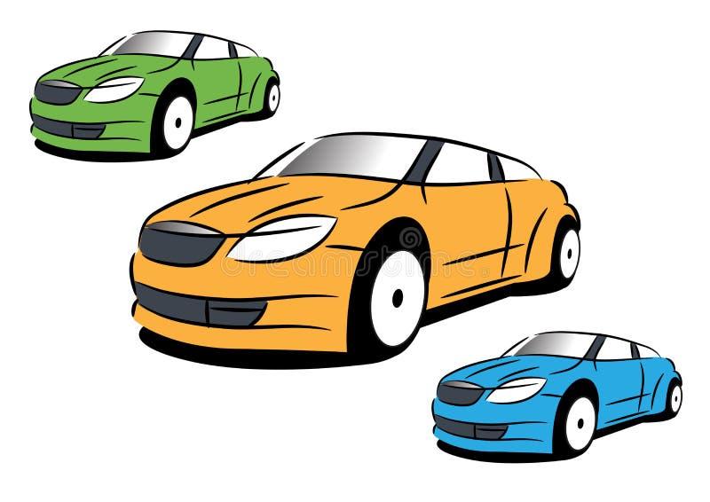 Vektorbilden av sportbilen arkivfoto