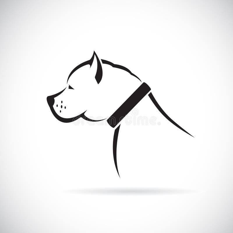 Vektorbilder av den Pitbull hunden