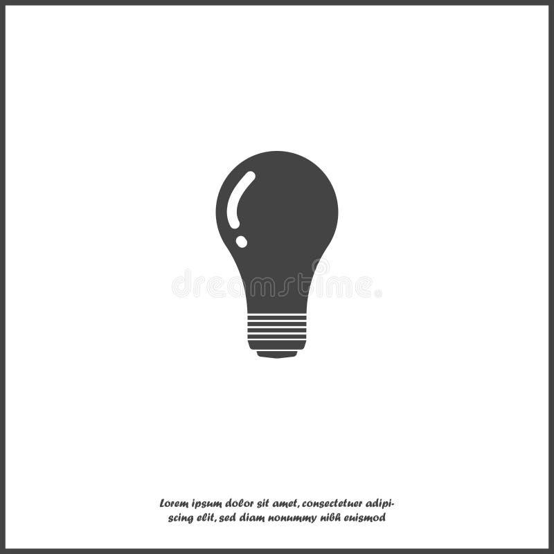 Vektorbildlampa Symbol för ljus kula på vit isolerad bakgrund Lager som grupperas för lätt redigerande illustration stock illustrationer