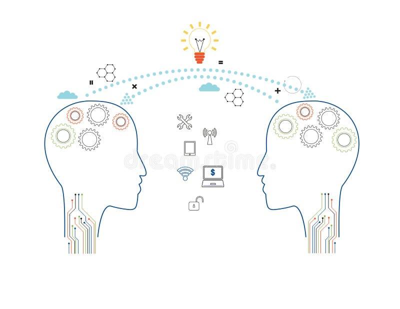 Vektorbildung, Wissensidee und Konzept lizenzfreie abbildung