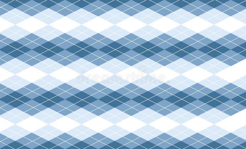 Vektorblauer Argyle Hintergrund stock abbildung