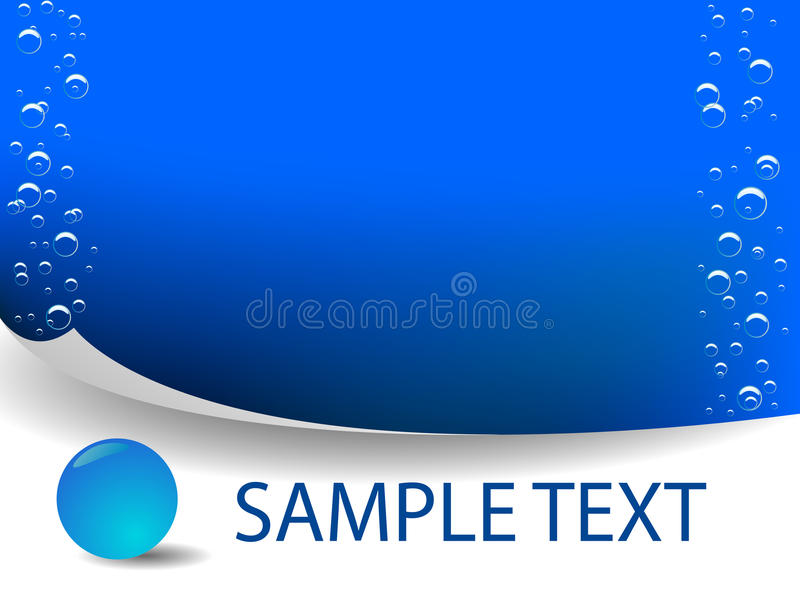 Vektorblaues Wasser vektor abbildung