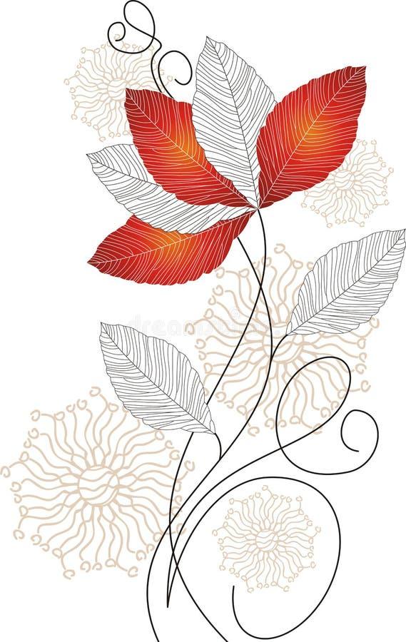 Vektorblume für Grußkarte stock abbildung