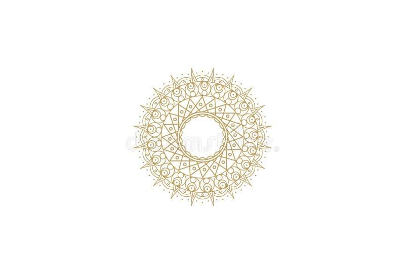 Vektorblumen-Logodesign stock abbildung