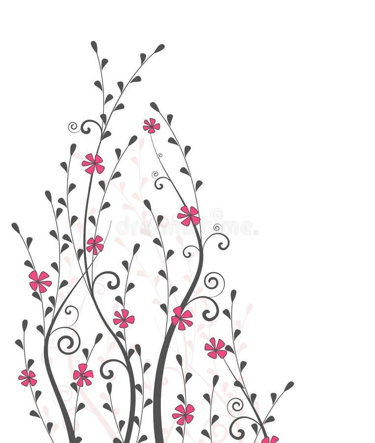 Vektorblumen und -niederlassungen stock abbildung