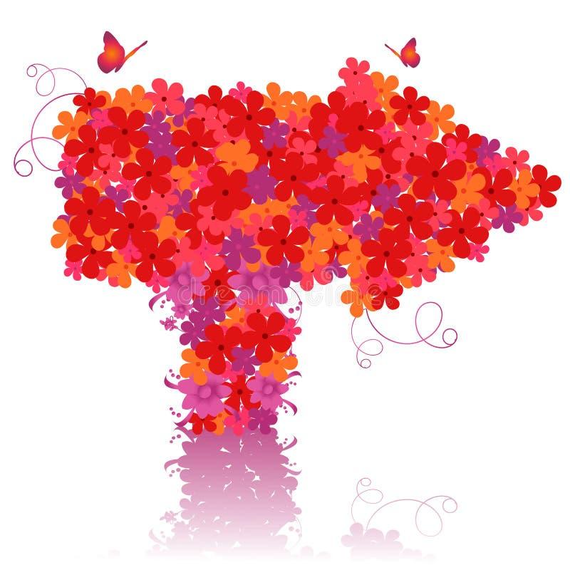Vektorblumenpfeil stock abbildung
