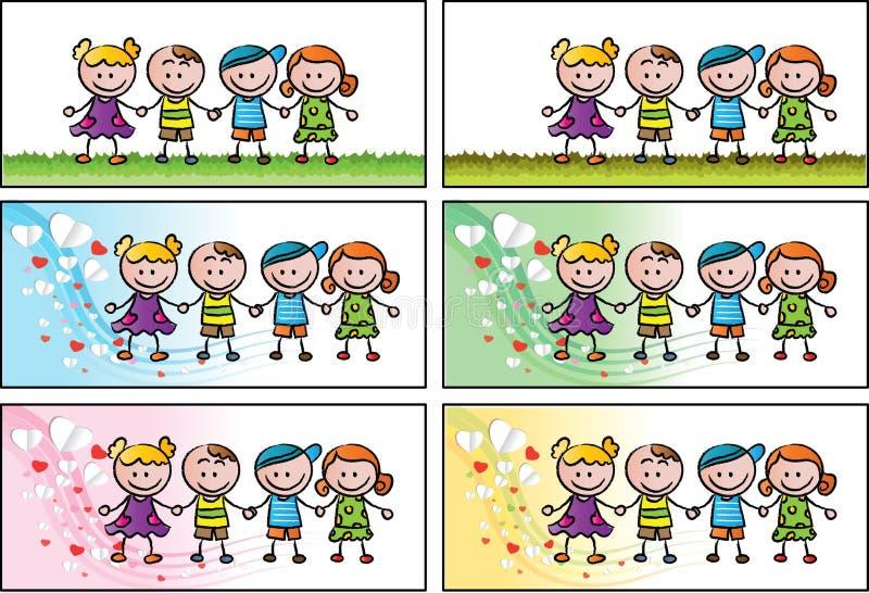 Vektorbokfläck för barn stock illustrationer