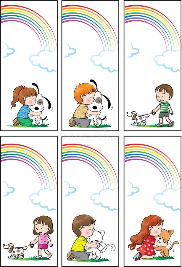 Vektorbokfläck för barn royaltyfri illustrationer