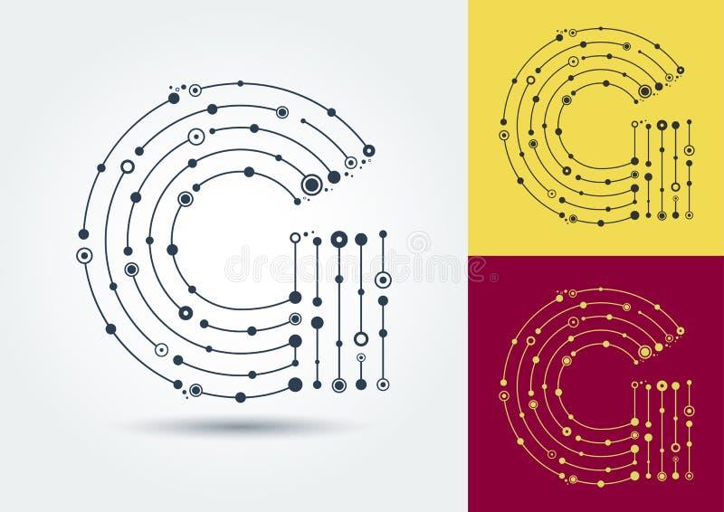 VektorbokstavsG Isolerat och redigerbart tecken i stilen av royaltyfri illustrationer