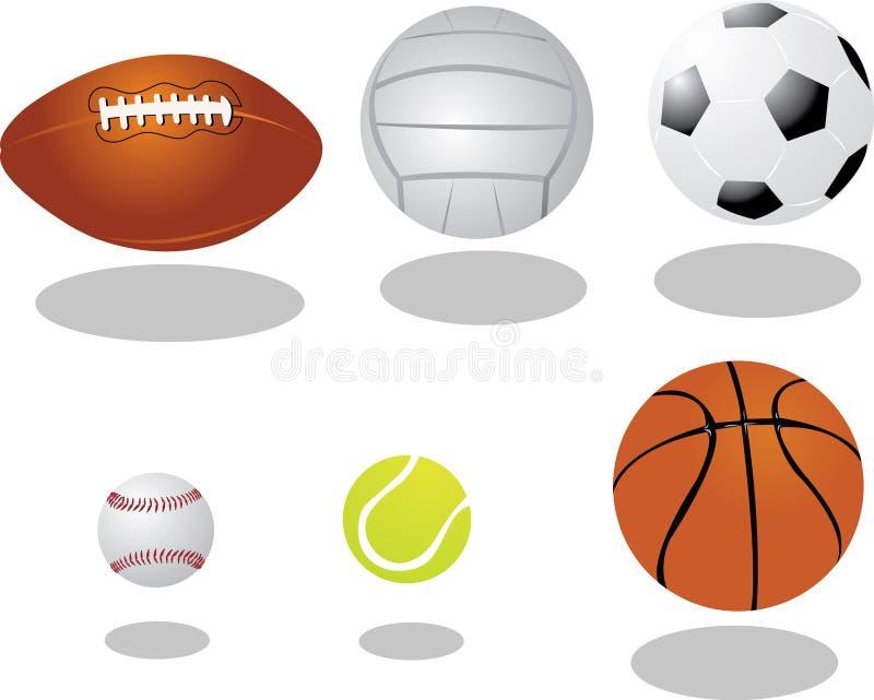 Vektorbollar vektor illustrationer
