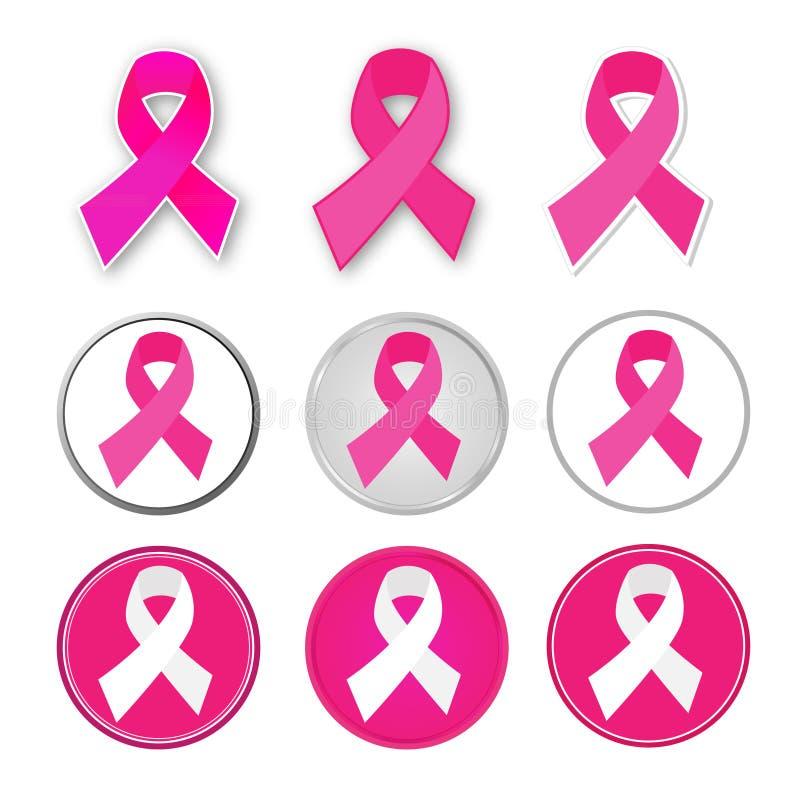Vektorbröstcancerband vektor illustrationer