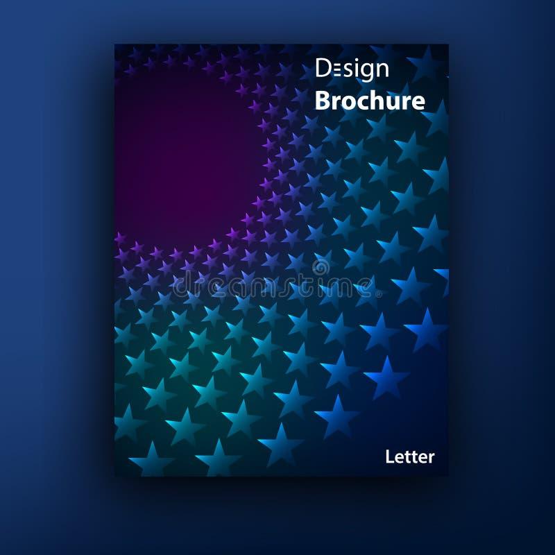 Vektorbroschüren-/-broschürenabdeckungsdesignschablonen stock abbildung