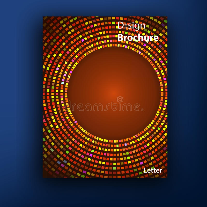 Vektorbroschüren-/-broschürenabdeckungsdesignschablonen lizenzfreie abbildung