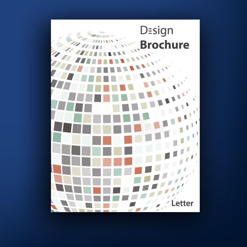 Vektorbroschüren-/-broschürenabdeckungsdesignschablonen vektor abbildung
