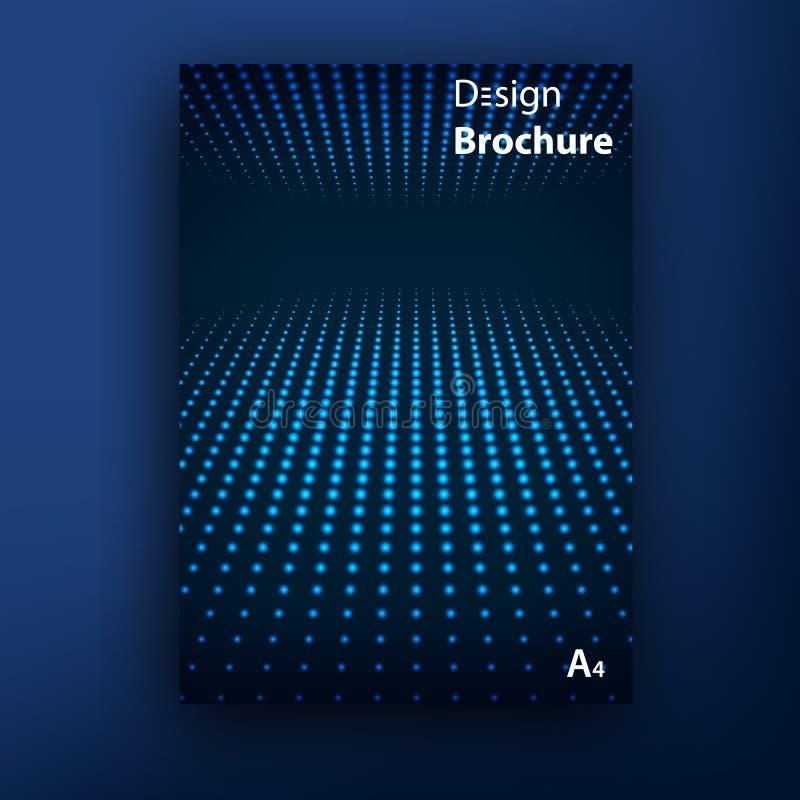 Vektorbroschürenbroschürenabdeckungs-Designschablonen stock abbildung