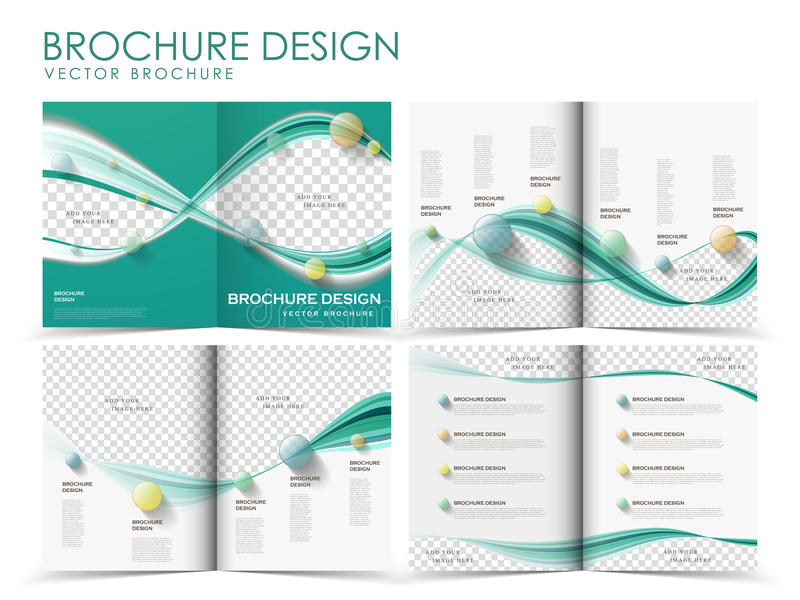 Vektorbroschürenplan-Designschablone lizenzfreie abbildung