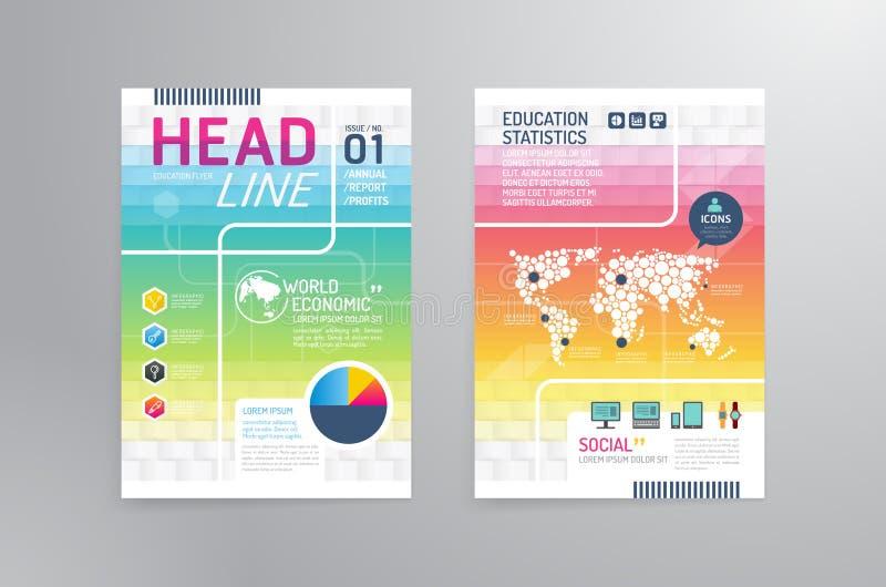 Vektorbroschyr, reklamblad, tem för design för affisch för häfte för tidskrifträkning royaltyfri illustrationer