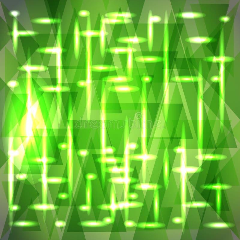 Vektorbrusandemodell av delikata gröna fragment vektor illustrationer