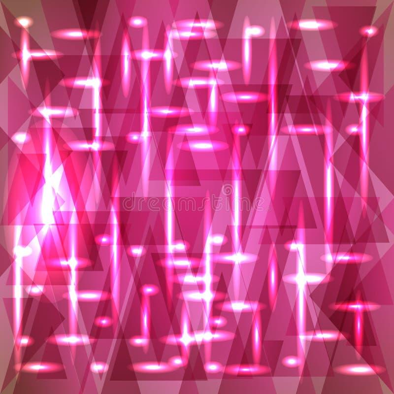 Vektorbrusandemodell av delikata rosa fragment vektor illustrationer