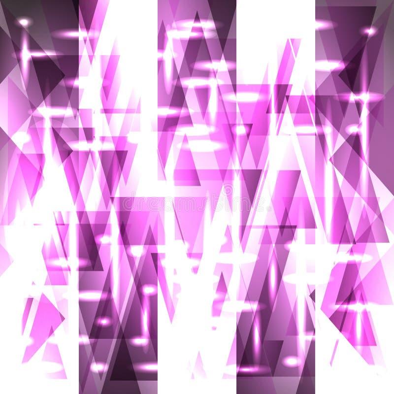 Vektorbrusandemodell av delikata violetta fragment och triang vektor illustrationer