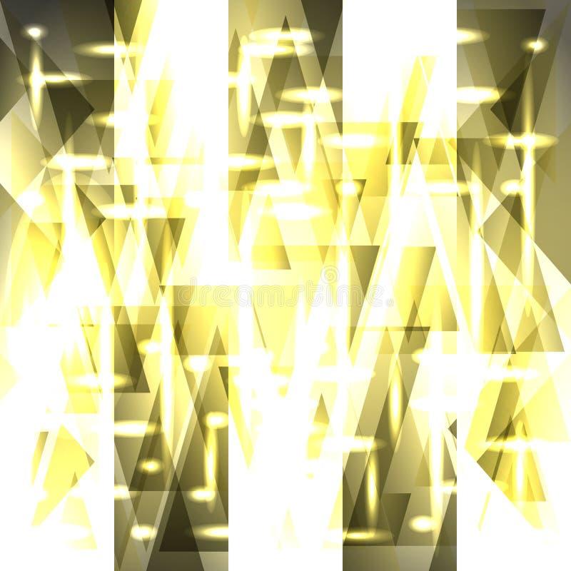 Vektorbrusandemodell av ljusa guld- band och fragment royaltyfri illustrationer