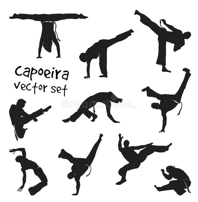 Vektorcapoeiraupps?ttning vektor illustrationer