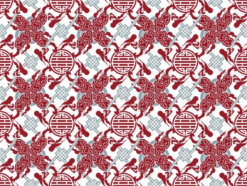Vektorchinesisches traditionelles ineinandergegriffenes Muster - Symbol lizenzfreie abbildung