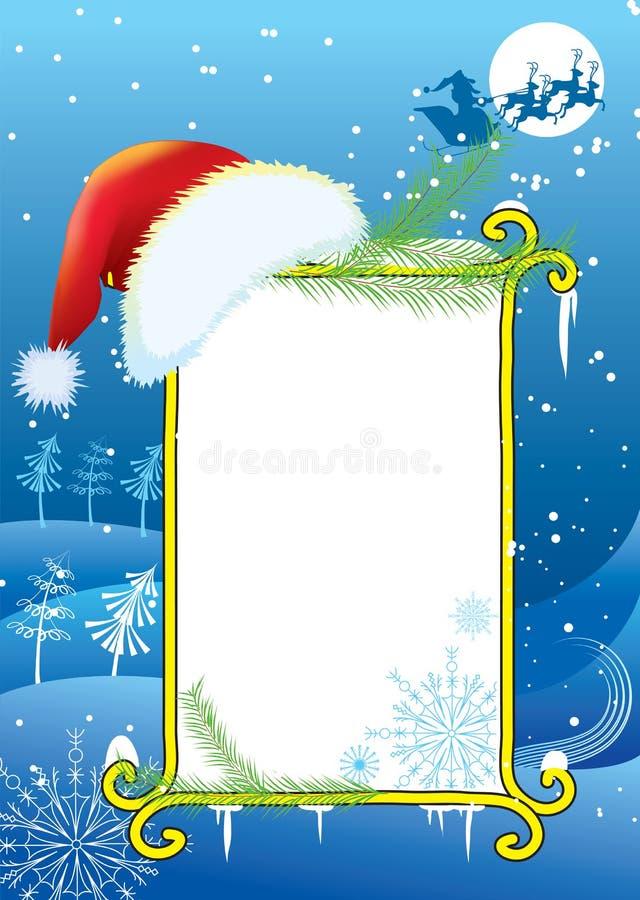 Vektorchristmasn Hintergrund lizenzfreie abbildung
