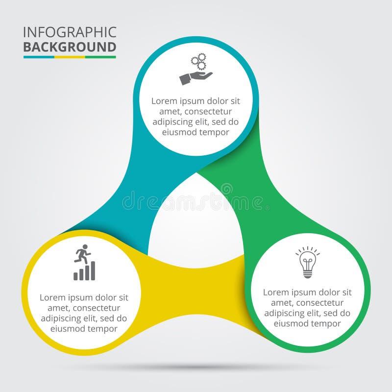 Vektorcirkelbeståndsdel för infographic vektor illustrationer