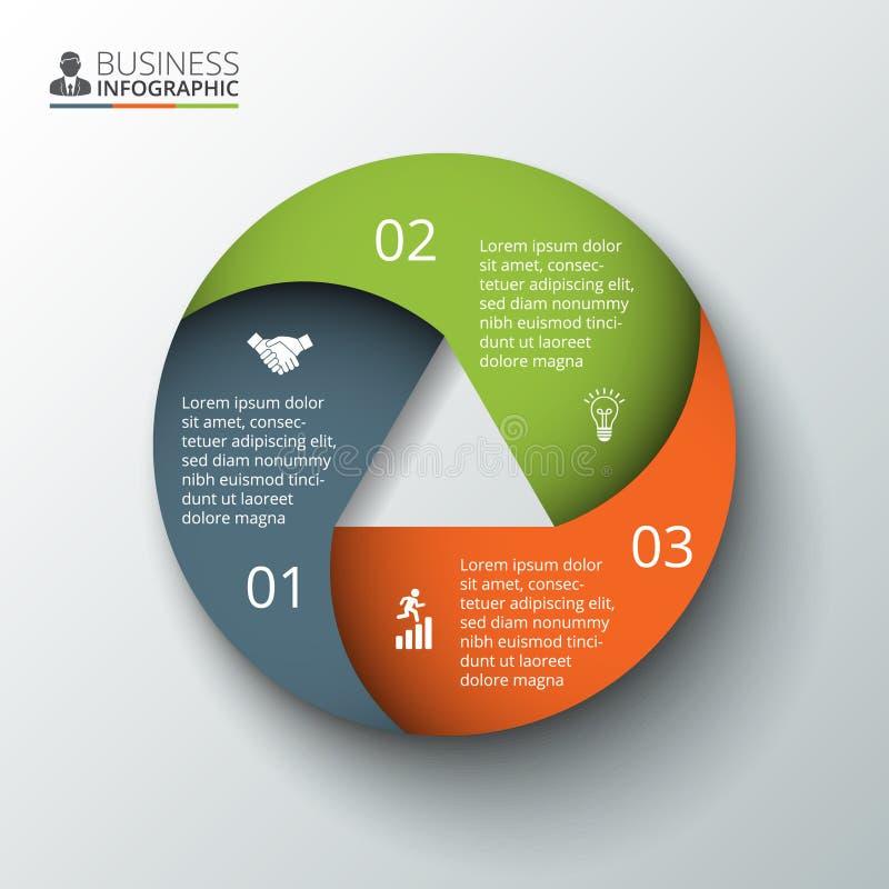Vektorcirkelbeståndsdel för infographic stock illustrationer