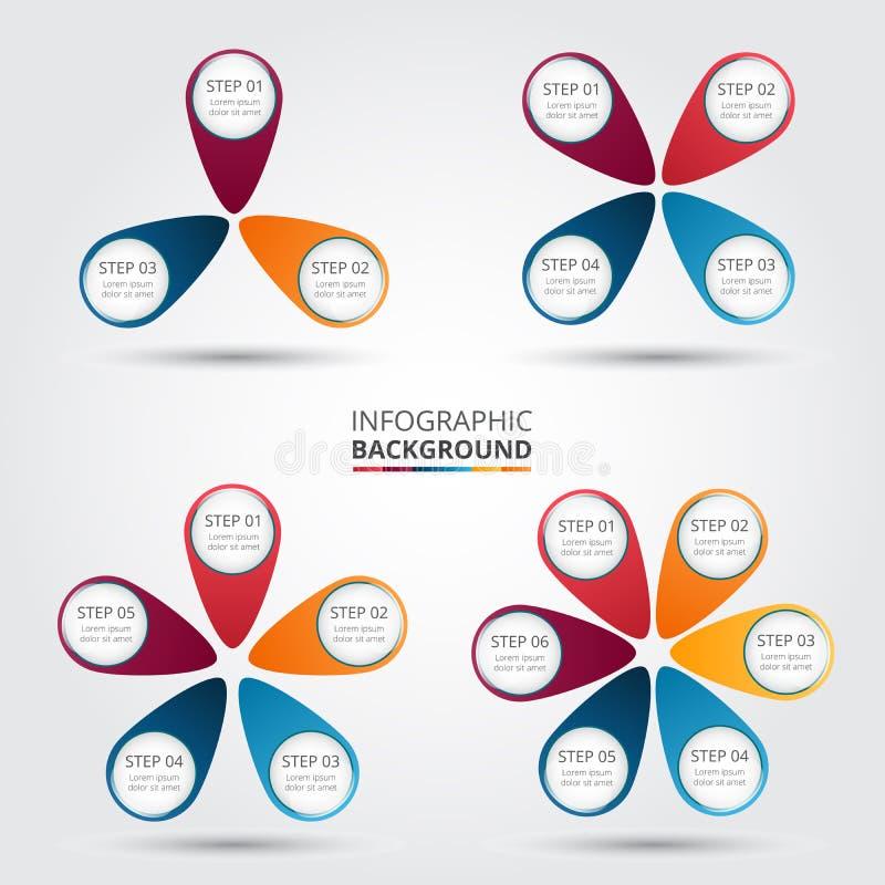 Vektorcirkelbeståndsdelar för infographic vektor illustrationer