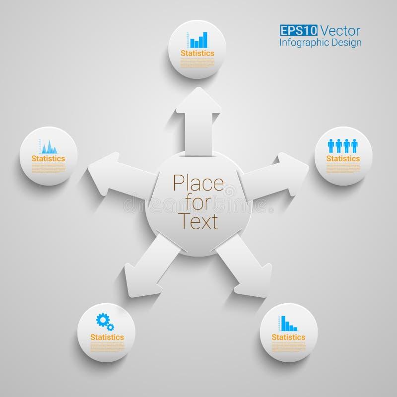 Vektorcirkeltimeline stock illustrationer