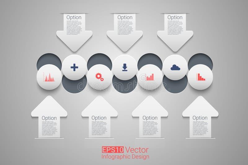 Vektorcirkeltimeline vektor illustrationer