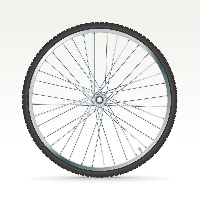 Vektorcykelhjul royaltyfri illustrationer