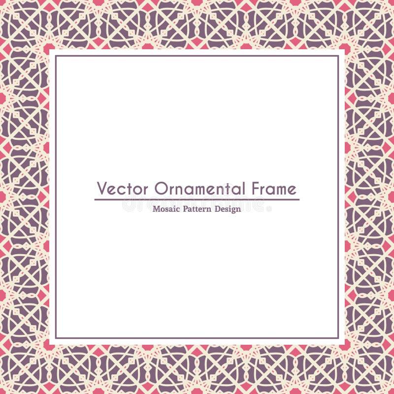Vektordekoratives dekoratives Feld vektor abbildung