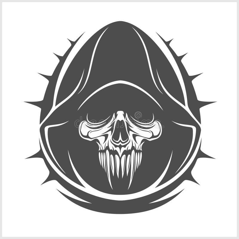 Vektordemonskalle royaltyfri illustrationer