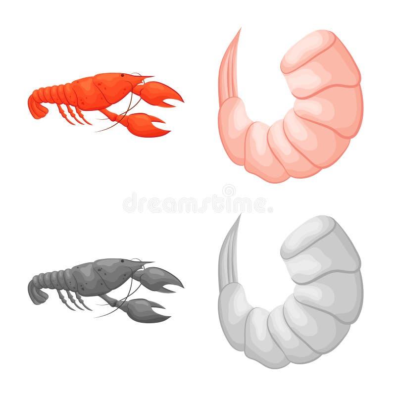 Vektordesign av aptitretare- och havsymbolen St?ll in av aptitretare- och l?ckerhetmaterielsymbolet f?r reng?ringsduk stock illustrationer