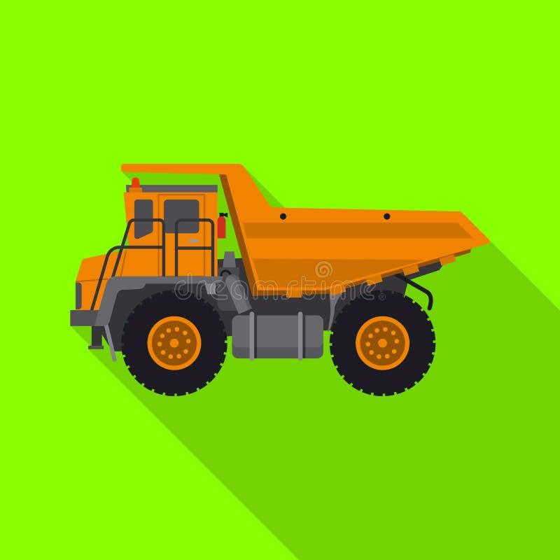 Vektordesign av byggande- och konstruktionssymbolet Samling av byggande och illustrationen för maskinerimaterielvektor vektor illustrationer