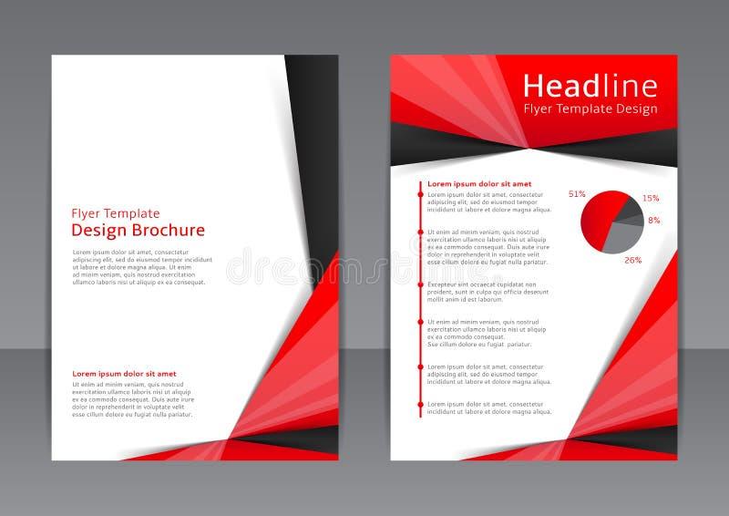 Vektordesign av den röda och svarta reklambladet, räkning, broschyr, affisch, rapport royaltyfri foto