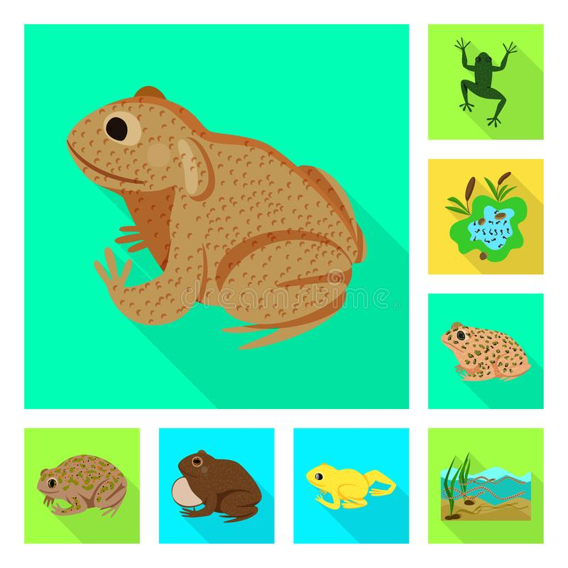 Vektordesign av djurliv- och myrlogoen Samling av djurliv- och reptilvektorsymbolen f?r materiel vektor illustrationer