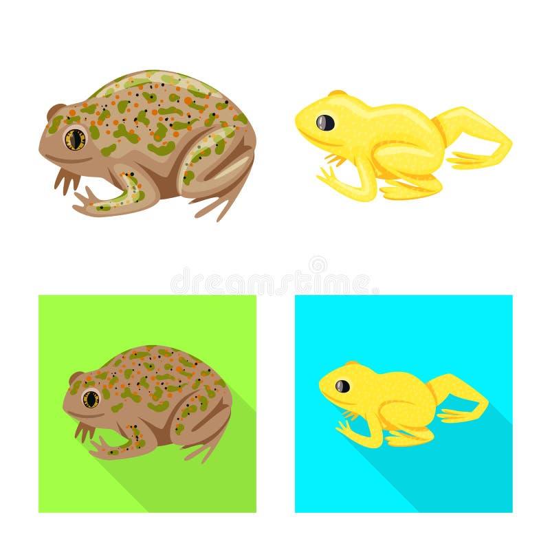 Vektordesign av djurliv- och myrlogoen St?ll in av djurliv- och reptilvektorsymbolen f?r materiel stock illustrationer