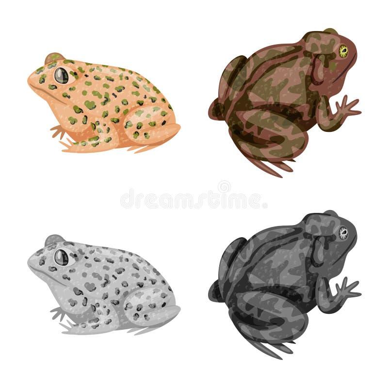 Vektordesign av djurliv- och myrsymbolen St?ll in av djurliv- och reptilvektorsymbolen f?r materiel vektor illustrationer